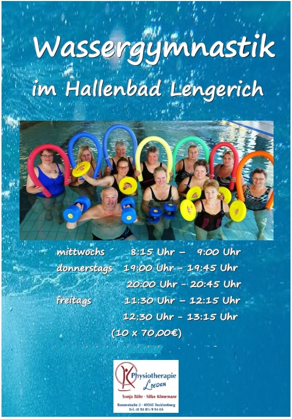 Hansefit Karte.Wassergymnastik Physiotherapie Leeden Wellness Und